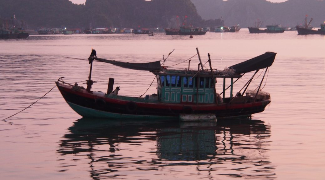 Fishing boat in Halong Bay
