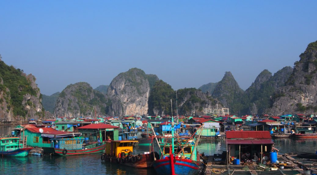 Boats in Halong Bay
