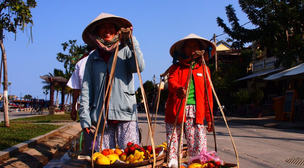 Fruit sellers Hoi An Vietnam