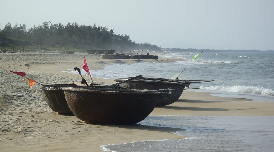 Fishing boats China Beach Hoi An
