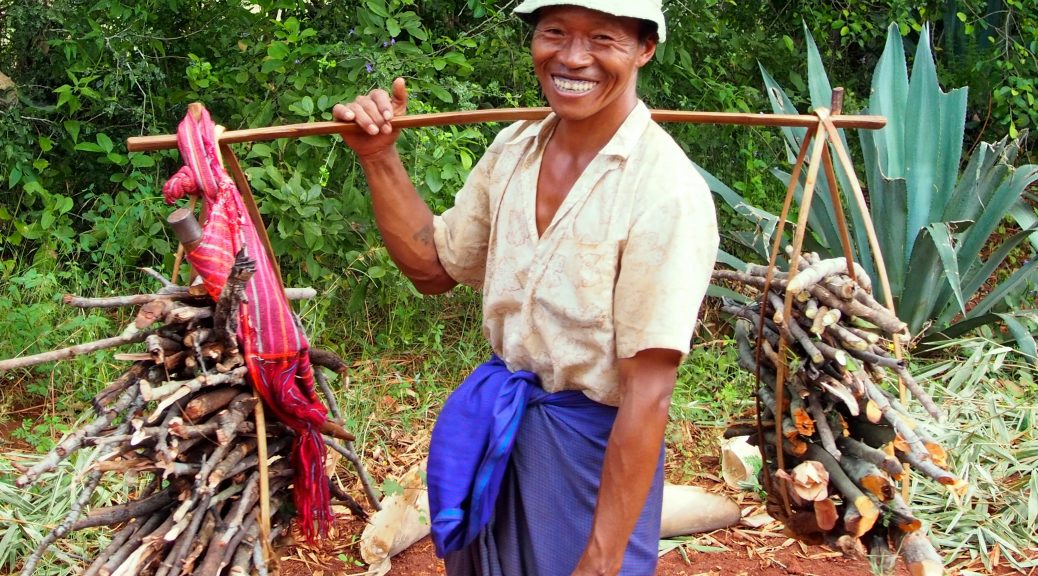 Happy farmer in Myanmar