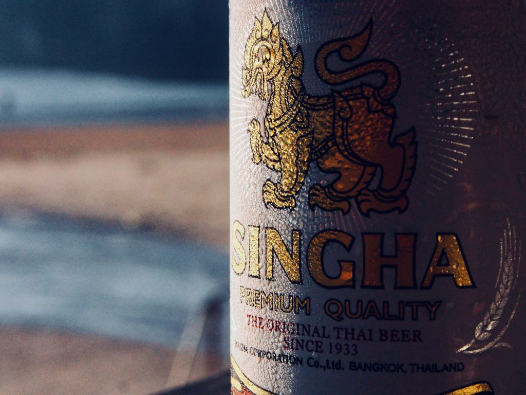 Ice cold Singa Beer
