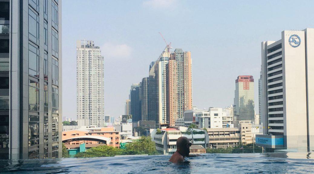 Rooftop Pool Bangkok Thailand.