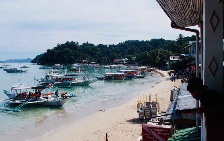 The view from OG's El Nido ,Palawan ,Phillipines ,S.E. Asia