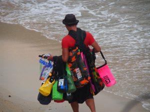 Tout selling his wares,El Nido ,Palawan ,Phillipines ,S.E. Asia
