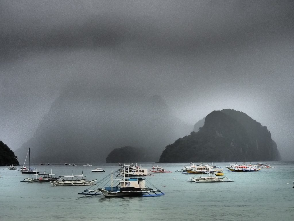Rainy Day in Bacuit Bay,El Nido ,Palawan ,Phillipines ,S.E. Asia