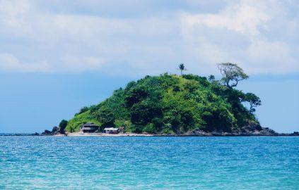 Fishing boat on Nacpan Beach,Palawan ,Phillipines ,S.E. Asia