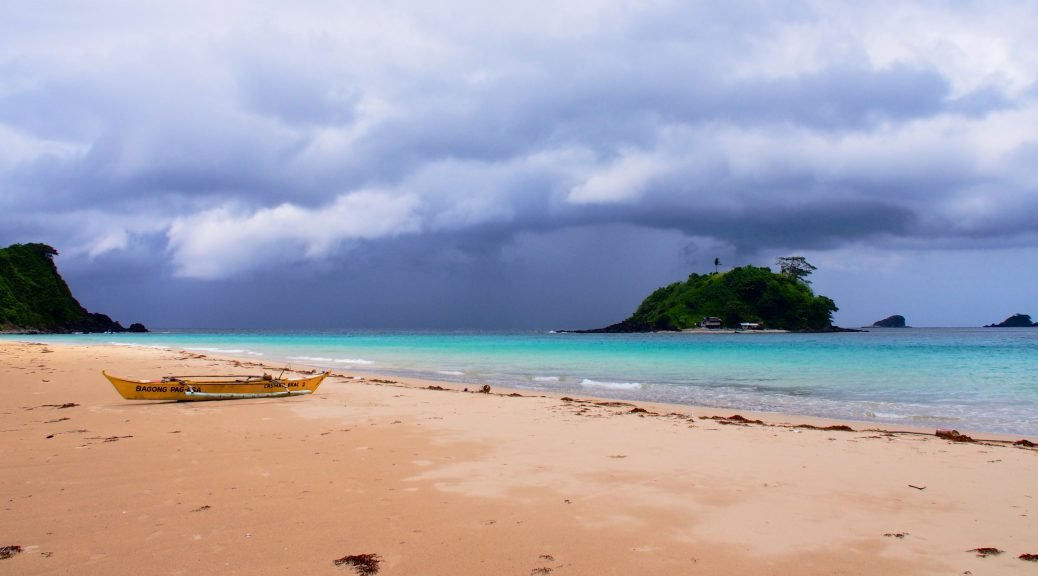 Storm approaching Nacpan Beach,Palawan ,Phillipines ,S.E. Asia
