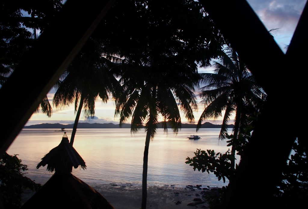 View from the hut at Tapik ,Sabaltan Village ,El Nido ,Palawan ,Phillipines ,S.E. Asia
