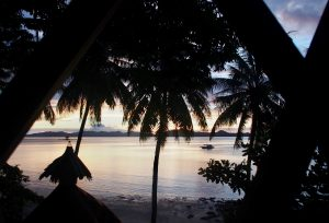 View from the hut at Tapik ,Sabaltan Village ,El Nido ,Palawan ,Phillipines ,S.E. Asia