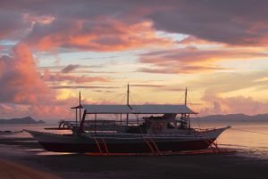Banca, Sunset,Sabaltan, Phillipines.