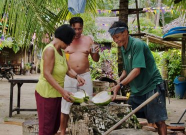 Drinking Coconut , Sabaltan Village, El Nido ,Palawan , Phillipines