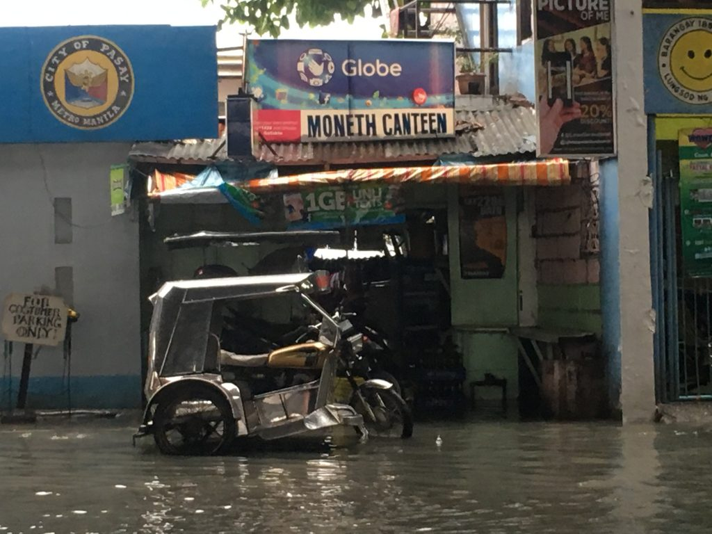 Water logged ,Manila,Phillipines ,S.E. Asia