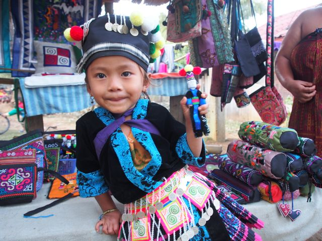 Girl in traditional dress Laos
