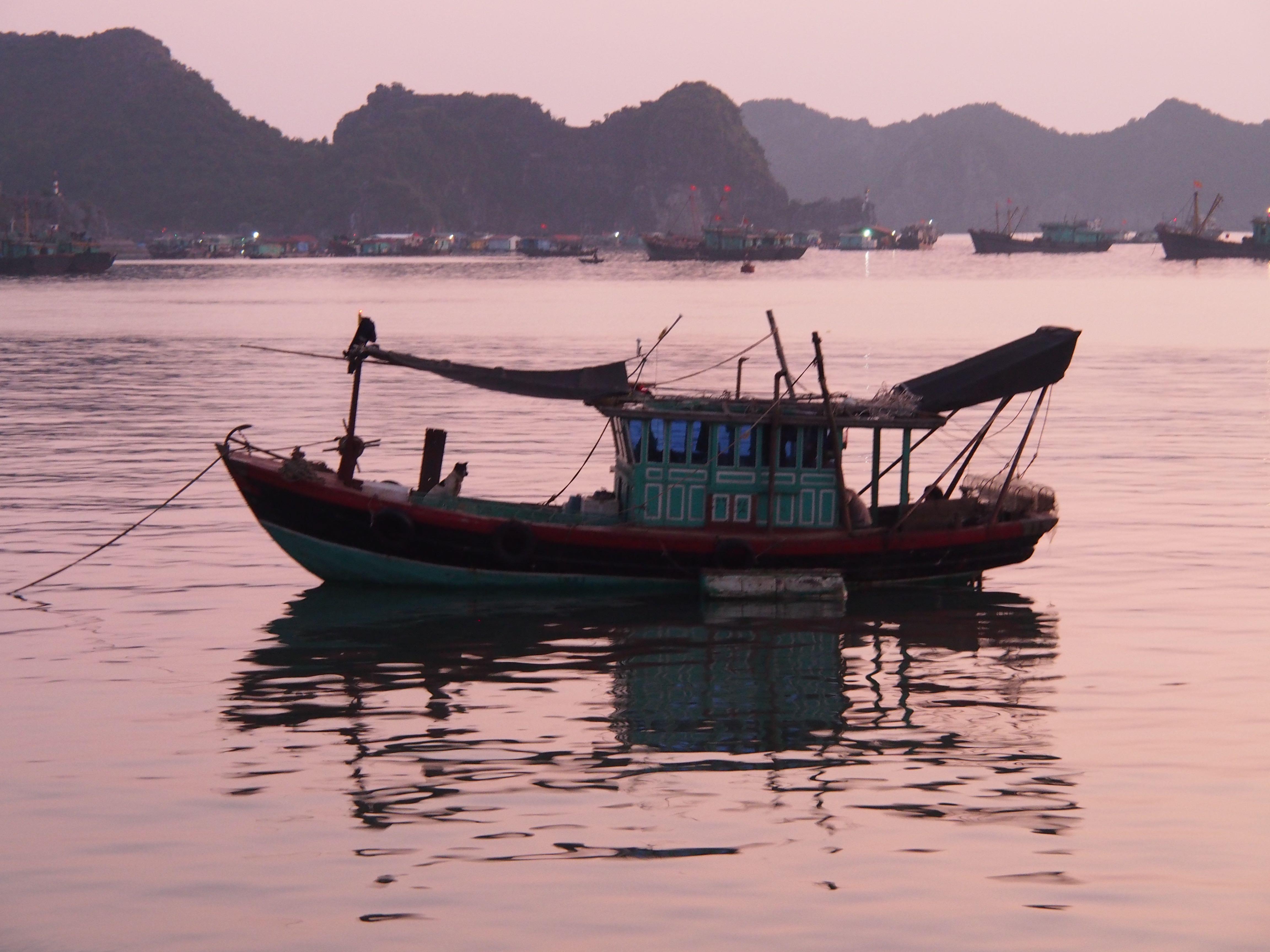 Fishing boat in Halong Bay