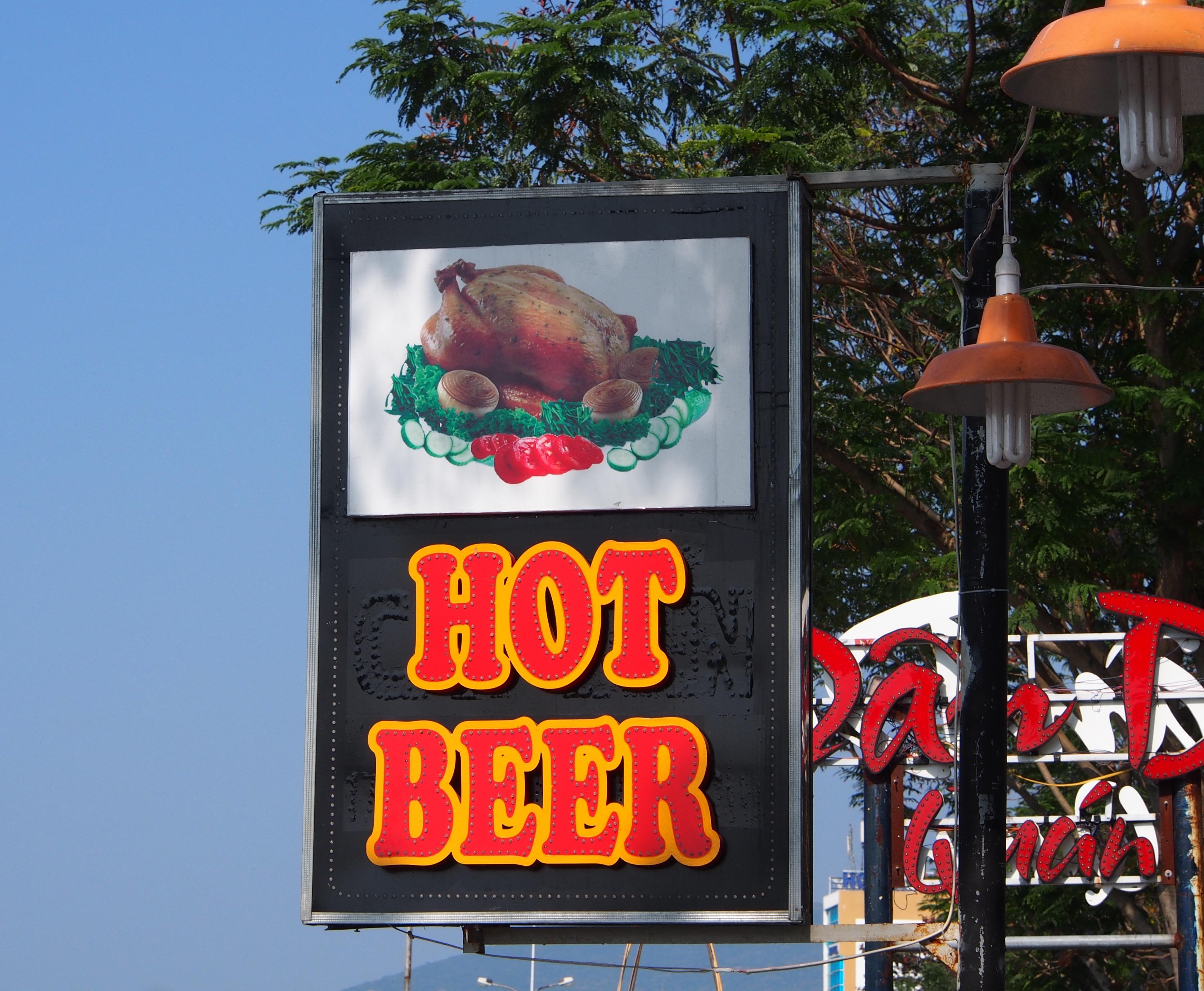 Street sign in Vietnam