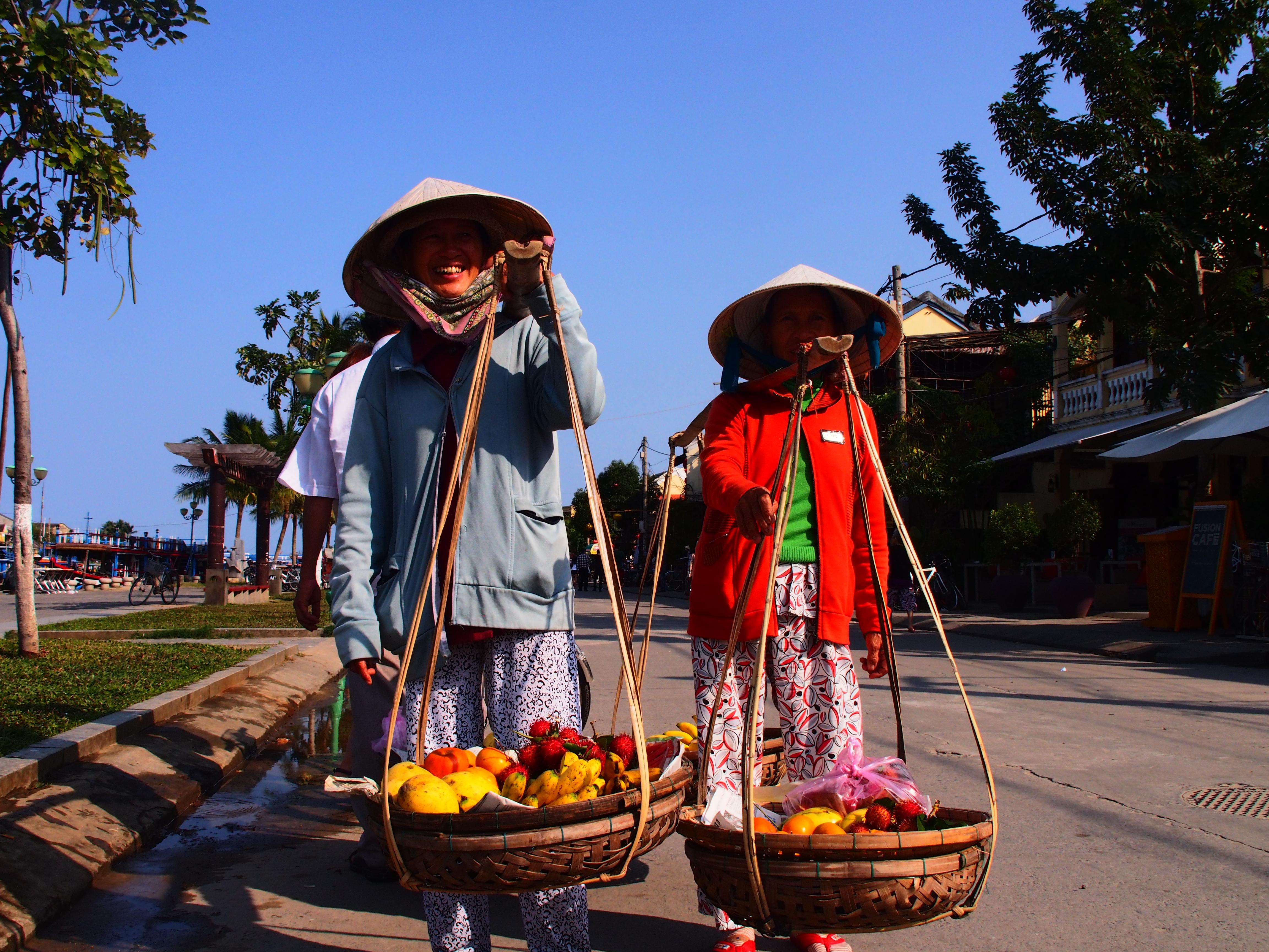 Fruit sellers Hoi An Vietnam