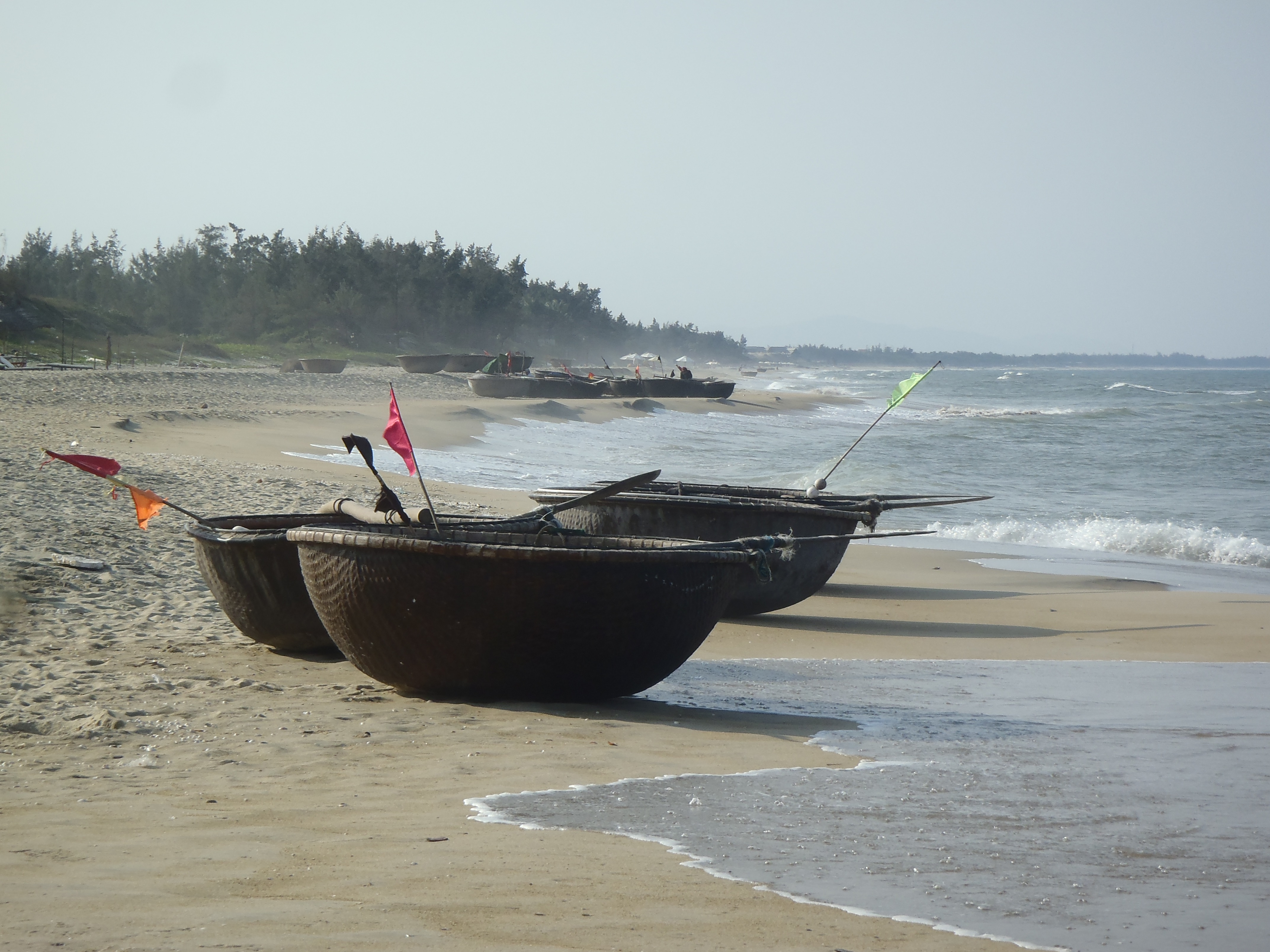 Fishing boats China Beach Hoi An