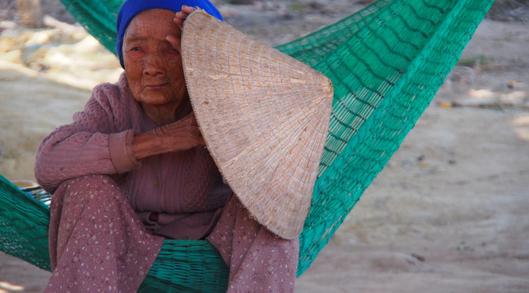 Old Lady with conical hat Vietnam