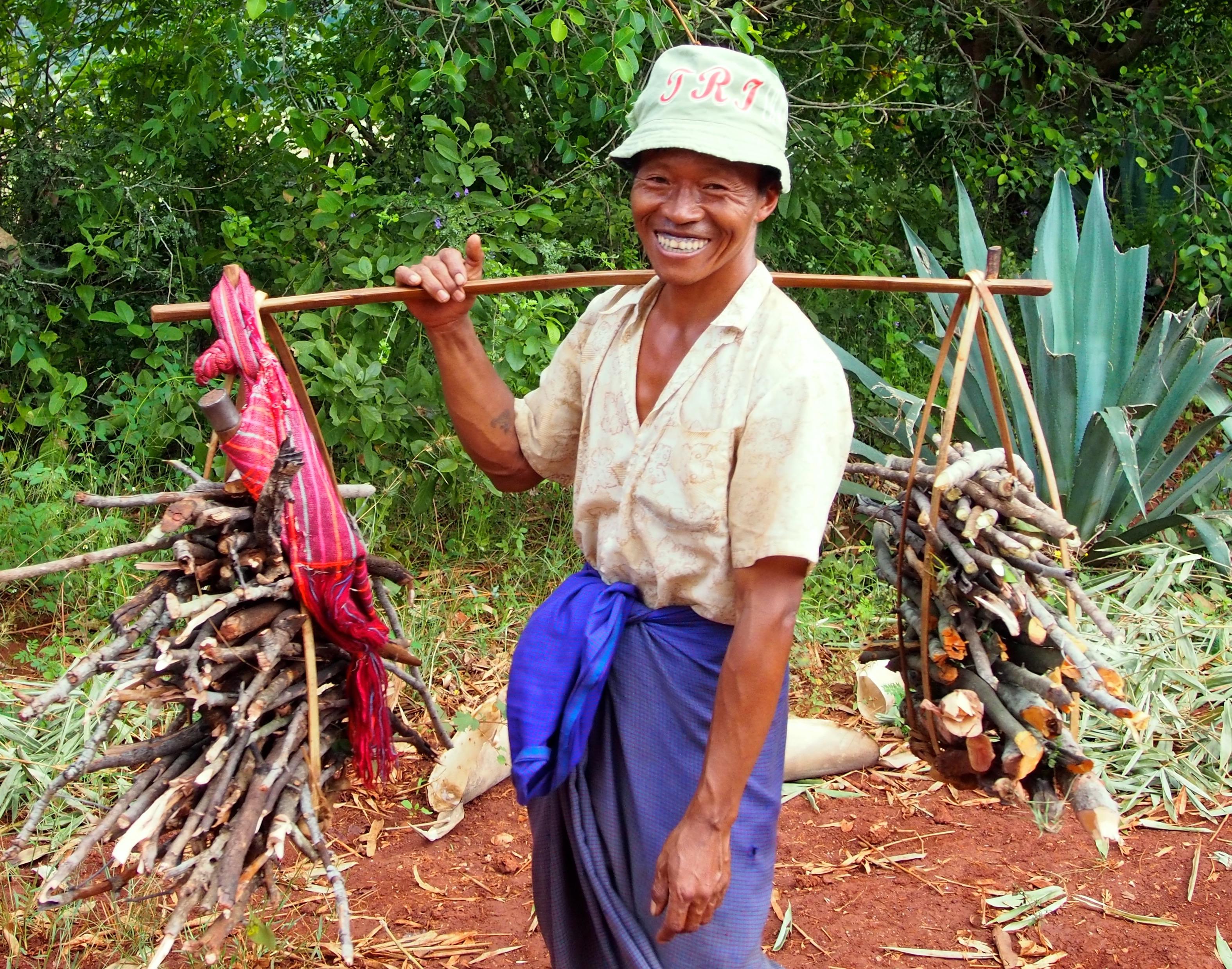 Happy farmer in Myanmar