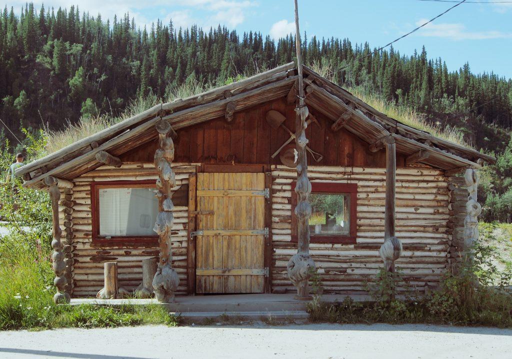 Cabin in Dawson City,Yukon, Canada.