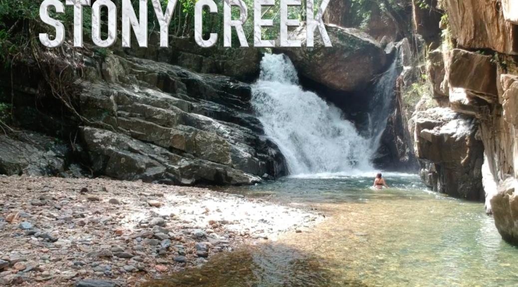Spectacular waterfall at Stoney Creek, Far North Queensland, Australia.